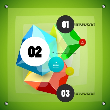 Option steps modern vector template Vector