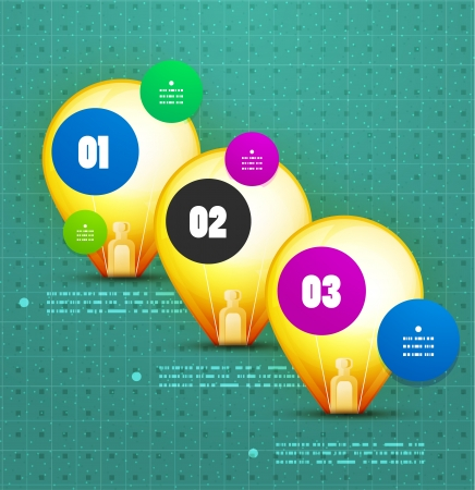 Light bulb option vector banner template Vector