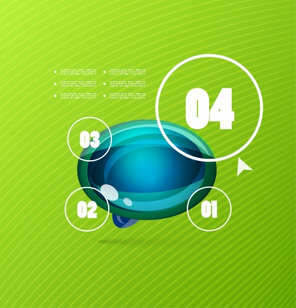 Infographics modern vector design template Vector