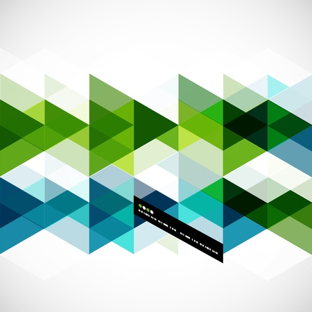 Modern geometrisch abstract vector sjabloon Stock Illustratie