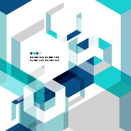 Modern geometrisch abstract vector sjabloon Stock Illustratie