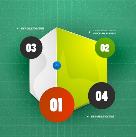 versions: Square vector option banner template Illustration