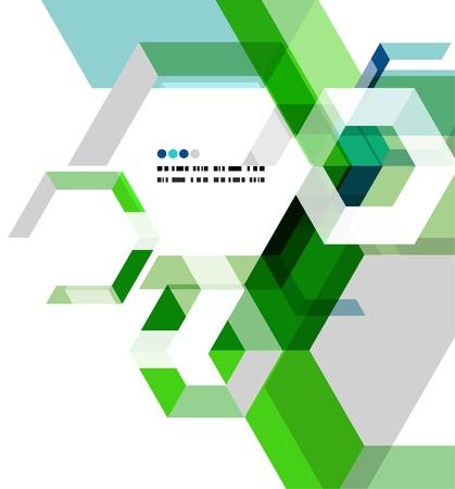 illustrierte: Moderne geometrische abstrakte Vektor-Vorlage