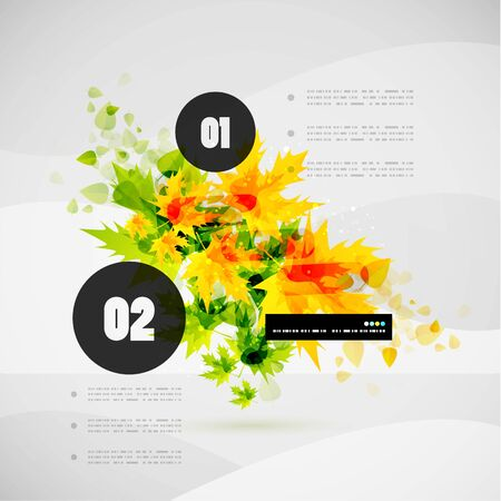 Leaf nature infographics modern vector template Vector