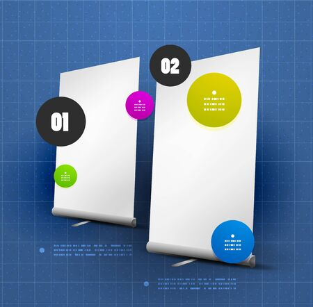 Vector ad option steps banner Vector
