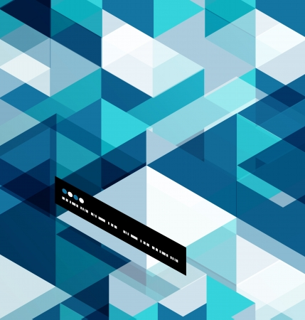 future: Modern geometrical abstract vector template