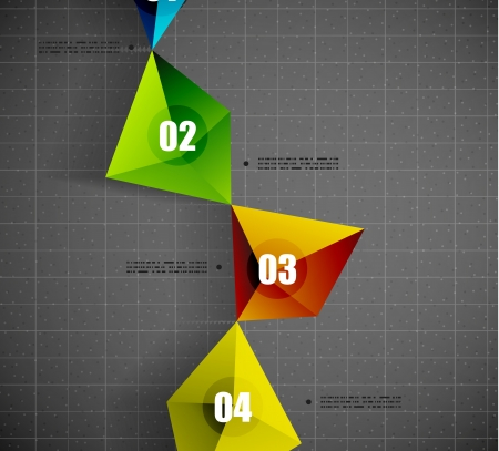 Modern vector geometrical shape template Vector