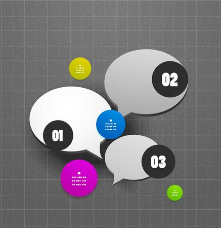 Abstract vector steps circles template Vector