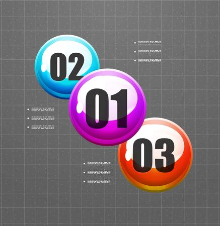 versions: Abstract vector steps circles template Illustration