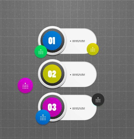 Abstract vector steps circles template Illustration