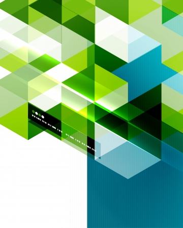 forme geometrique: Modèle de vecteur moderne géométrique Illustration