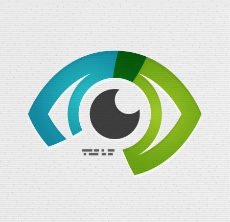 oči: Barevné oko papíru design Ilustrace