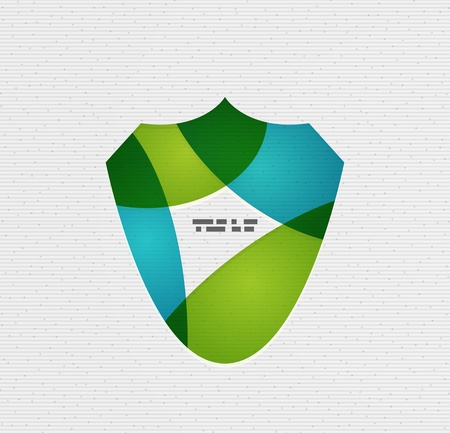 Colorful paper shield modern  Vector