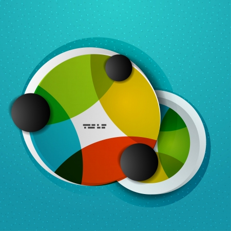 Colorful circles abstract vector design template Stock Vector - 20894249