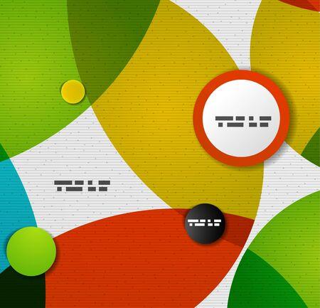 Colorful circles abstract vector design template Stock Vector - 20894259