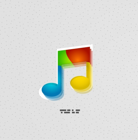 Music note colorful vector concept Vector