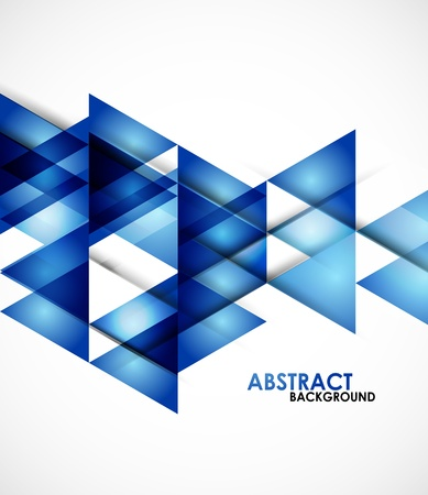Blue business triangles Stock Vector - 20894331