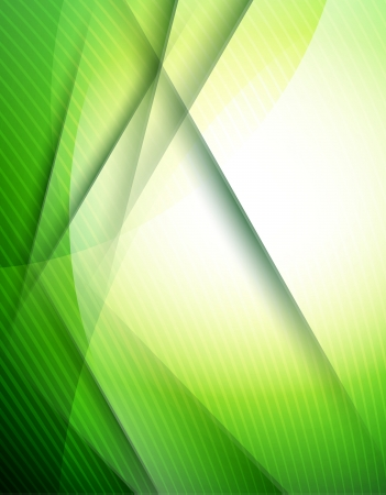 Abstract green lines design template Vector
