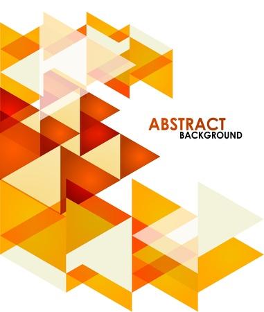 abstrakte muster: Orange Business Dreiecke