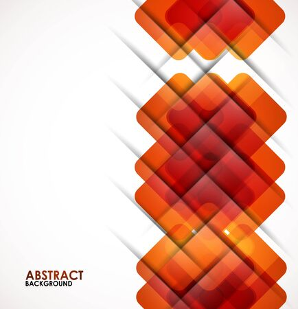 Geometrical squares modern template Vector