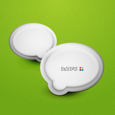 3d white speech bubble modern template Vector