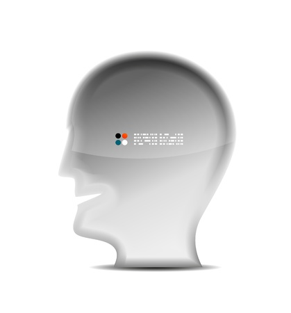 3d white head person concept Stock Vector - 21042519