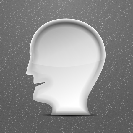 3d white head person concept Stock Vector - 21042520
