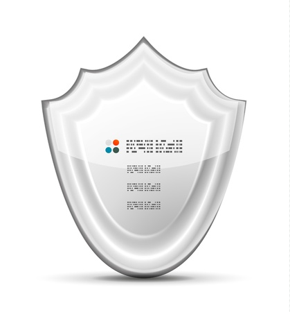 3d white protection concept Vector