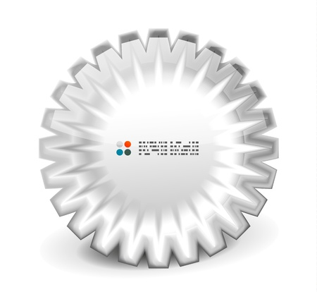 white 3d round shapes banner Vector