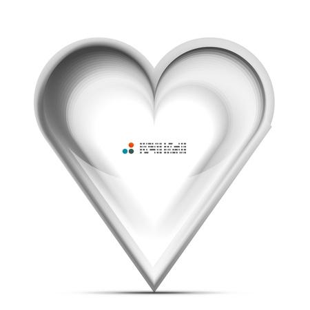 Metallic 3d heart love concept Stock Vector - 21042563