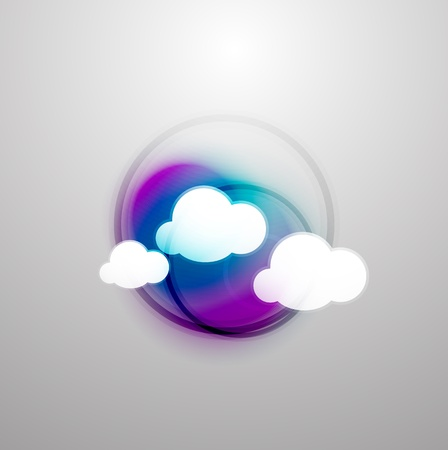Abstract blurred colorful clouds Vector