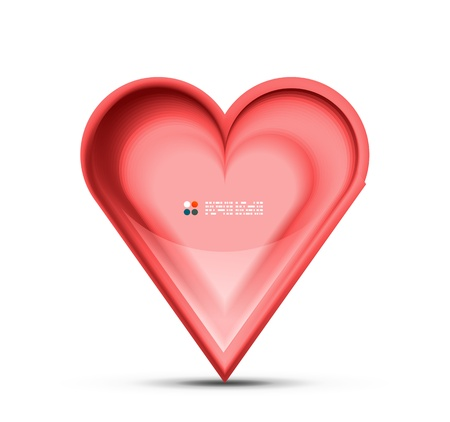 Red heart Stock Vector - 21042602