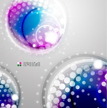 Futuristic colorful circles Stock Vector - 21042643