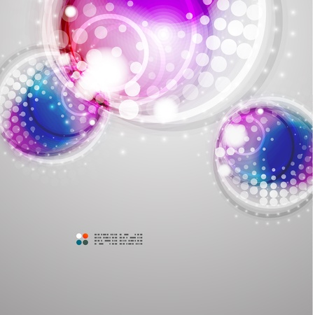 Futuristic colorful circles Stock Vector - 21042680