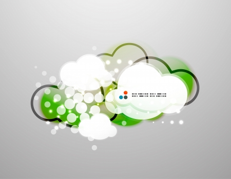 Vector clouds technology design Vector