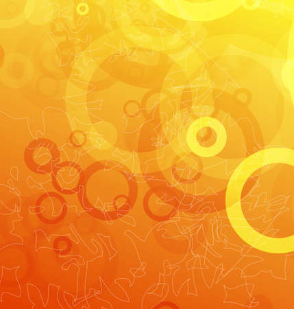 Shiny orange abstract template Vector