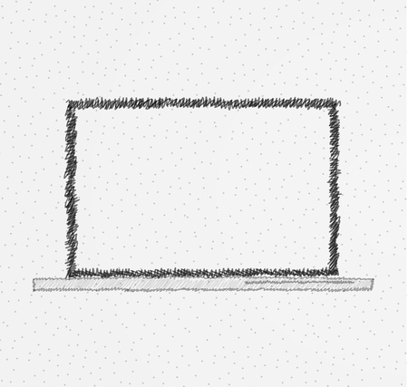 Hand drawn laptop design Stock Vector - 21042733