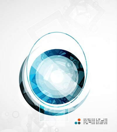 Futuristic circle abstract background Vector