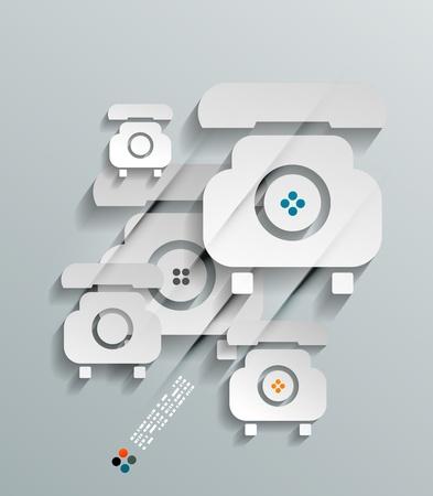Phone 3d paper concept Stock Vector - 21133398