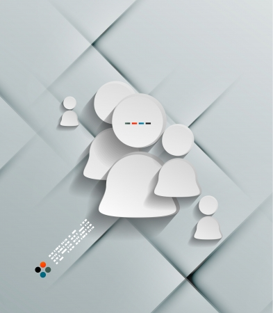 Illustration of white sticker user icon Vector