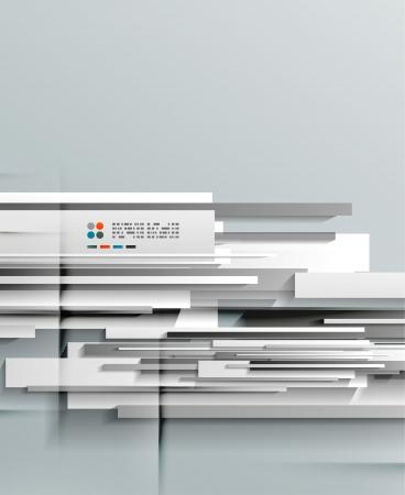3d vector paper lines design Stock Vector - 21133410