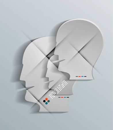 Human head vector 3d paper design Vector