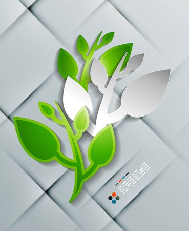 Vector paper leaves modern design Vector