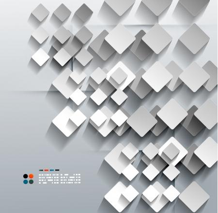 3d paper rhomb vector modern design