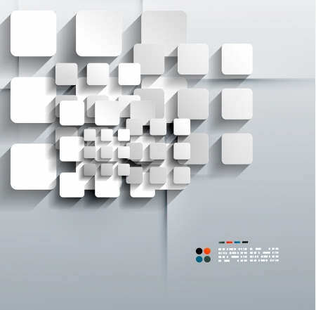 album cover: Vector 3d paper squares modern design Illustration