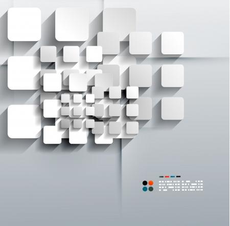 Vettore 3d di carta quadrati di design moderno