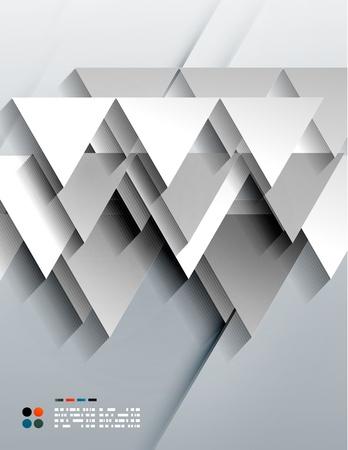 Vector 3d paper triangles Stock Vector - 21133587