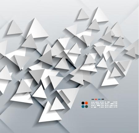 Vector 3d paper triangles Stock Vector - 21133588