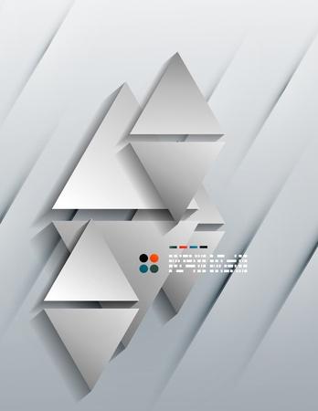 Vector 3d paper triangles Stock Vector - 21133636