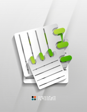 Vector calendar paper modern design Vector